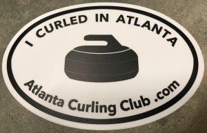 I Curled in Atlanta Sticker