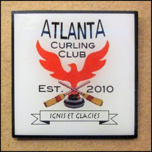 Pin - Atlanta Curling Club Square Logo