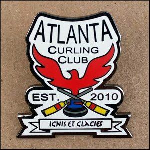 Pin - Atlanta Curling Club Shaped Logo
