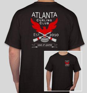 T-shirt - Atlanta Curling Club - Black