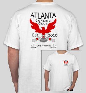 T-shirt - Atlanta Curling Club - White